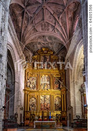 Interior of San Miguel church in Jerez de la 64805366