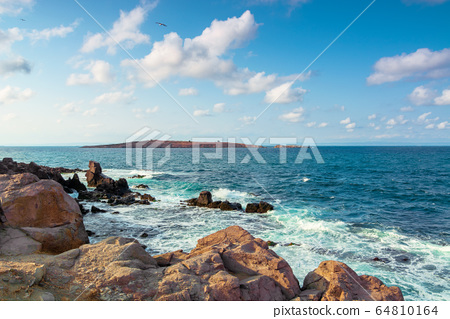 seascape with rocks and cliffs. beautiful scenery 64810164