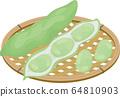 Broad bean basket vector illustration 64810903