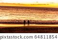 하와이주,마우이, 황혼,일몰,사람,두사람 64811854