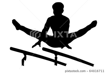 Sport silhouette gymnastics 10 64816711