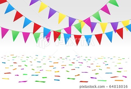 Confetti floor and flags 64818016