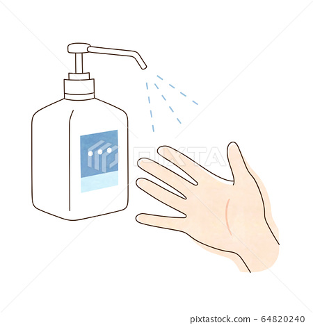 Alcohol disinfection right hand 64820240