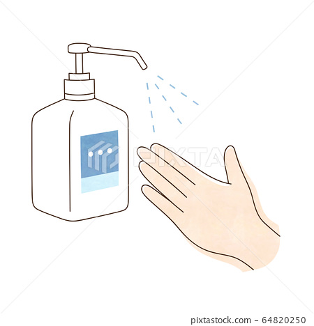 Alcohol disinfection left hand 64820250