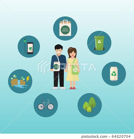 Sustainable eco-friendly lifestyle 64820704