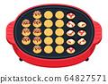 Bake takoyaki on a hot plate 64827571