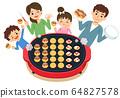 家庭烹飪:在熱板上烤章魚燒 64827578