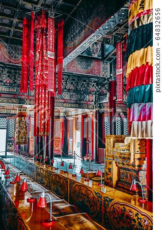 Interior view of Yonghegong Lama Temple. Beijing. 64832656
