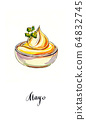 Small pot of mayonnaise with parsley 64832745