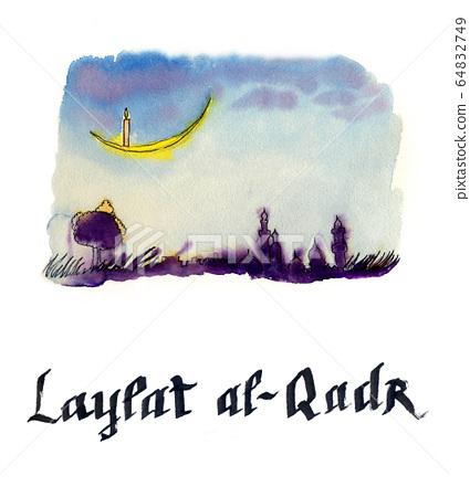 Laylat al-Qadr, Islamic religion celebration, night background 64832749
