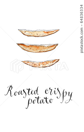 Roasted crispy potato 64836334