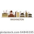 Washington skyline 64846395
