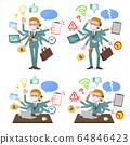 flat type mask blond hair businessman_mulch task 64846423