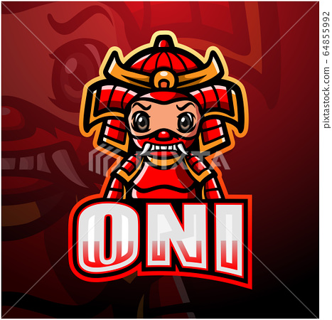 Oni mascot esport logo design 64855992