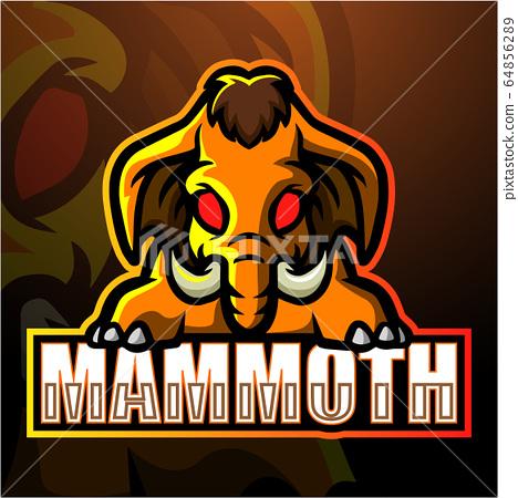 Mammoth mascot esport logo design 64856289