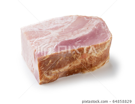 Bacon placed on a white background 64858829