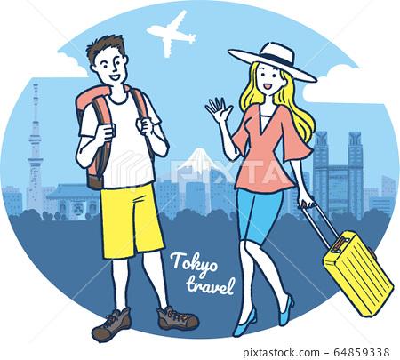 여행 · 도쿄 · 여름 · 단순 A 64859338