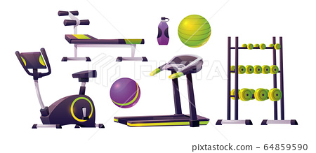 Gym equipment for workout, fitness and sport 64859590