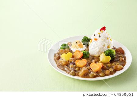 特色咖哩雞和小雞 64860051