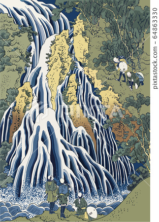 Shimotsuke Black Hair Mountain Kirifuri瀑布 64863330