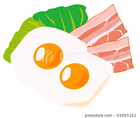 Bacon Ingredients Processed Food Fried Egg Egg 64865262