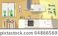 Kitchen With Furniture 64866569