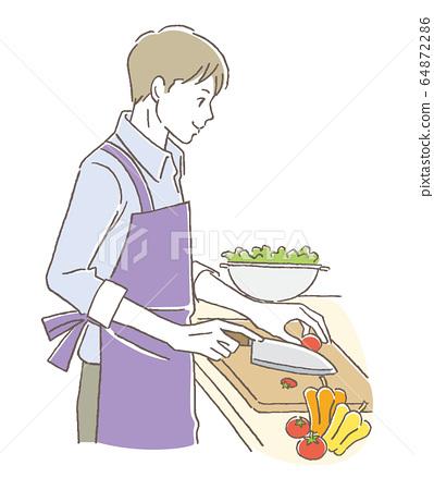 요리하는 남자 64872286