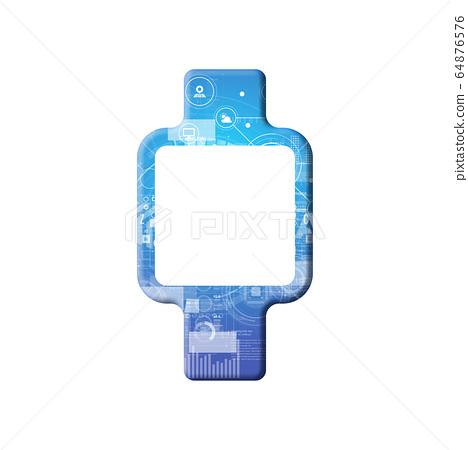 藍色圖標系列 64876576