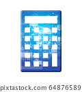 藍色圖標系列 64876589