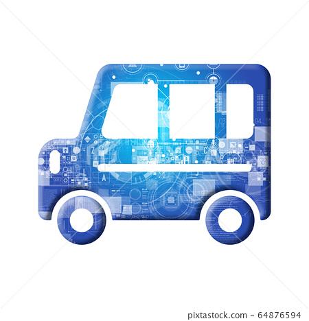 藍色圖標系列 64876594