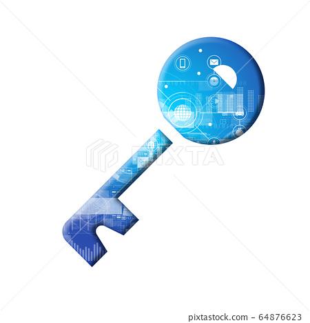 藍色圖標系列 64876623