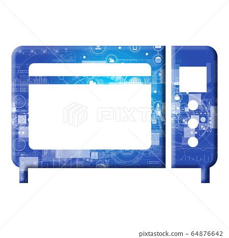 藍色圖標系列 64876642