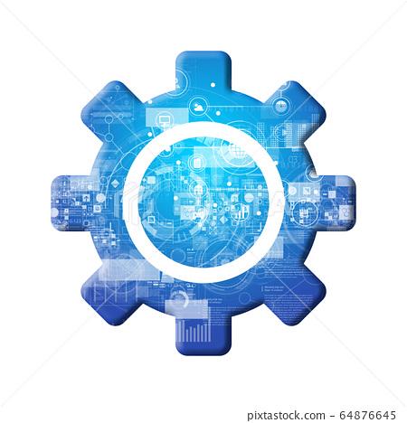 藍色圖標系列 64876645