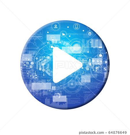 藍色圖標系列 64876649