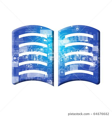Blue icon series 64876682