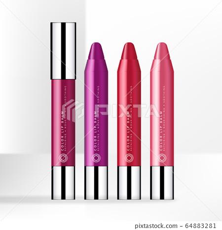 Vector Trendy Color Lip Balm Pen with Gloss Silver Cap 64883281