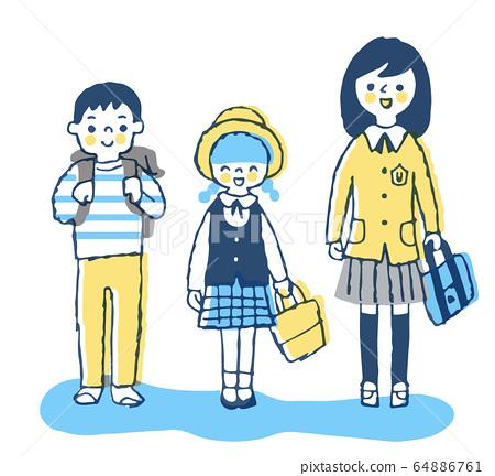 Three smiling children 64886761