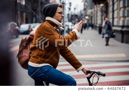 Finding the road with modern navigation system stock photo 64887672
