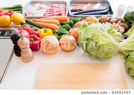 주방 부엌 재료 요리 요리 64892497