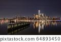 New York City Skyline at Night  64893450