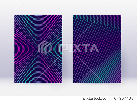 Cover design template set. Abstract lines modern b 64897436