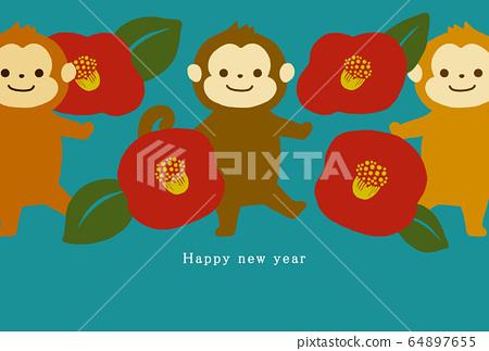 2028新年賀卡模板新年快樂新年賀卡猴年猴年猴年猴年2028 64897655