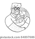 Lovely Beautiful Couple Holding Baby 64897686