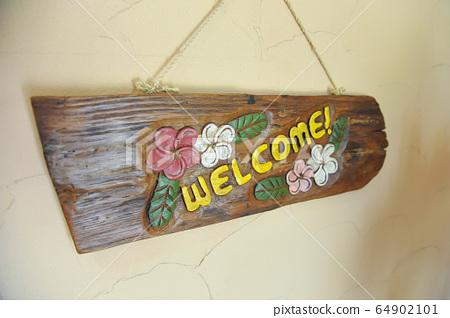 Welcome board (woodcut) 64902101