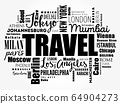 TRAVEL word cloud concept 64904273