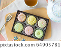 snow skin mooncakes with tea set 64905781