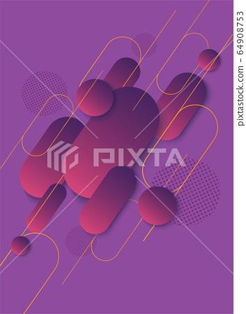 modern purple gradient trendy background vector illustration EPS10 64908753