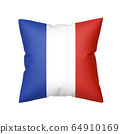 French flag on pillow 64910169