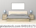Bedroom with wooden furniture 64910173