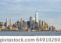 new york city skyline at sunset,new york,usa. 64910260